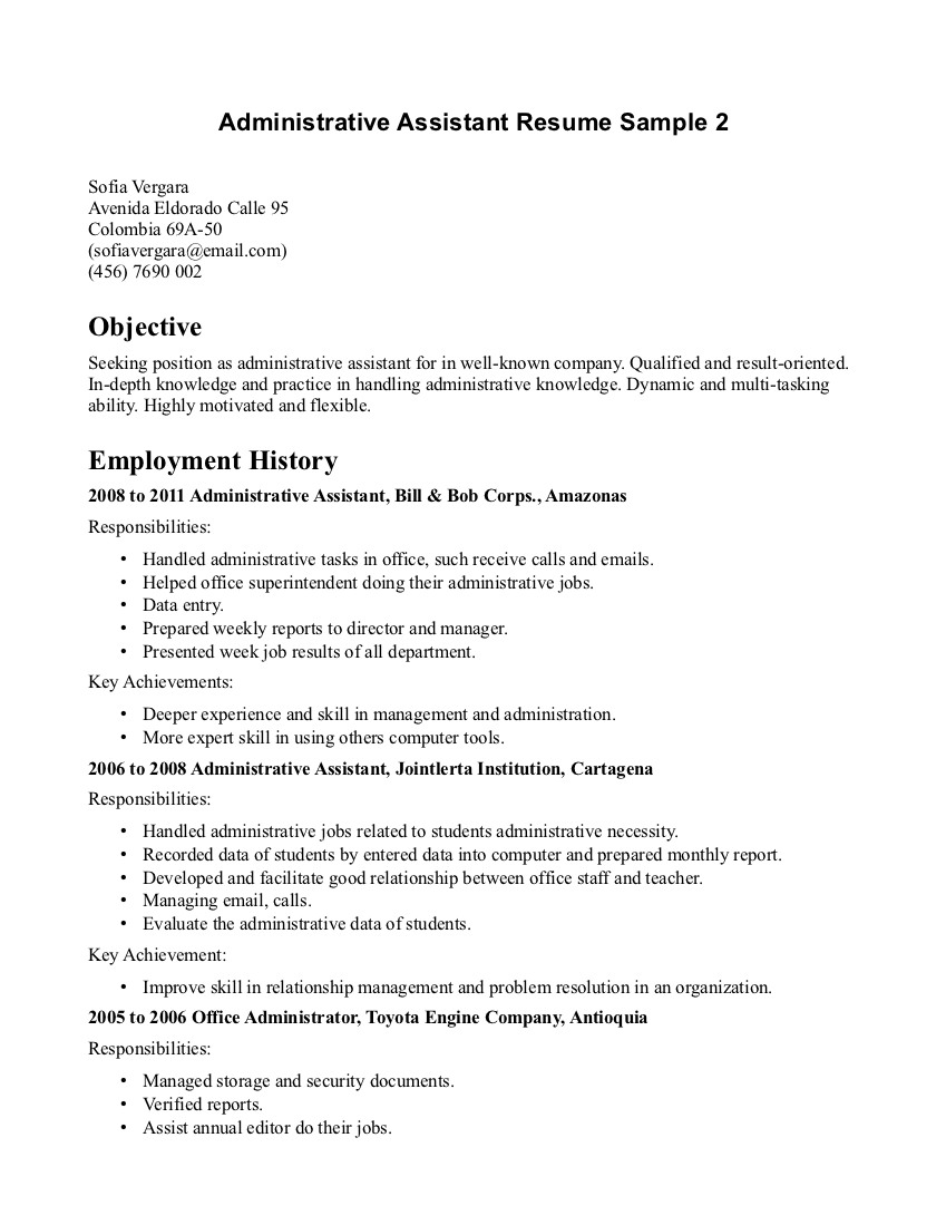 Medical Administrative Assistant Resume Template Medical  Skills For Administrative Assistant Resume