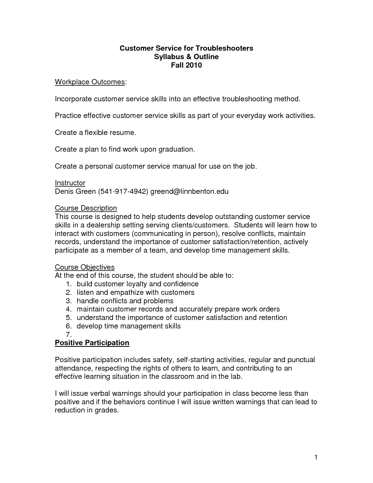 good customer service skills resume - April.onthemarch.co