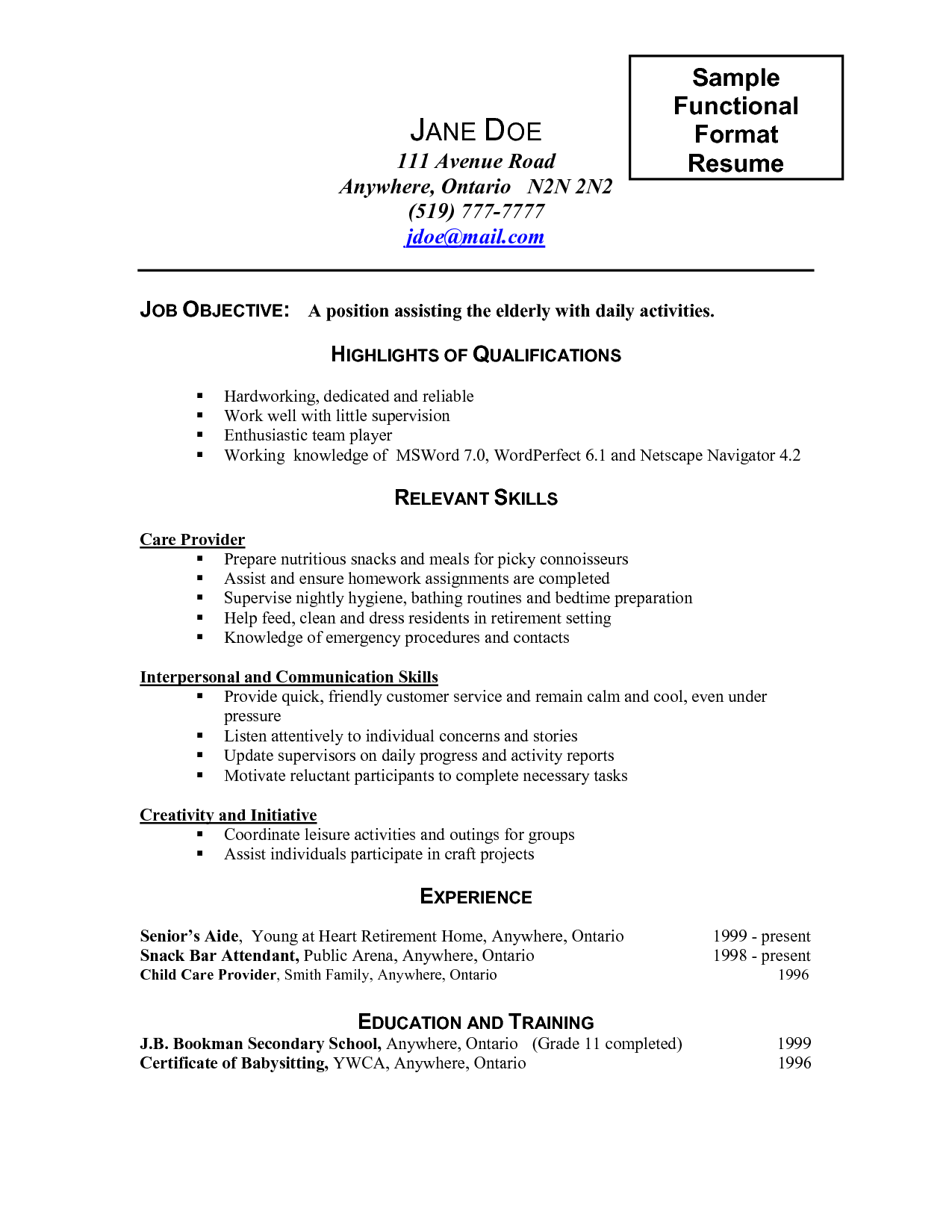 Caregiver Resume Samples Caregiver Job Description For Resume 2016