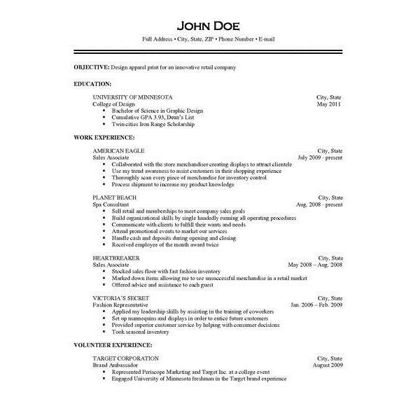 example of resume with job description - Example Of A Perfect Resume