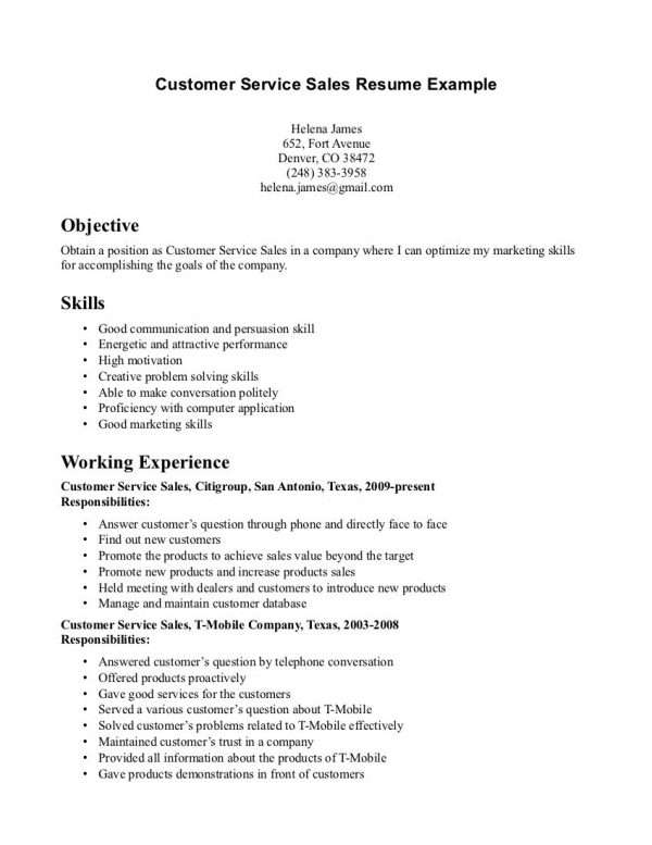 examples of objective statements in resume