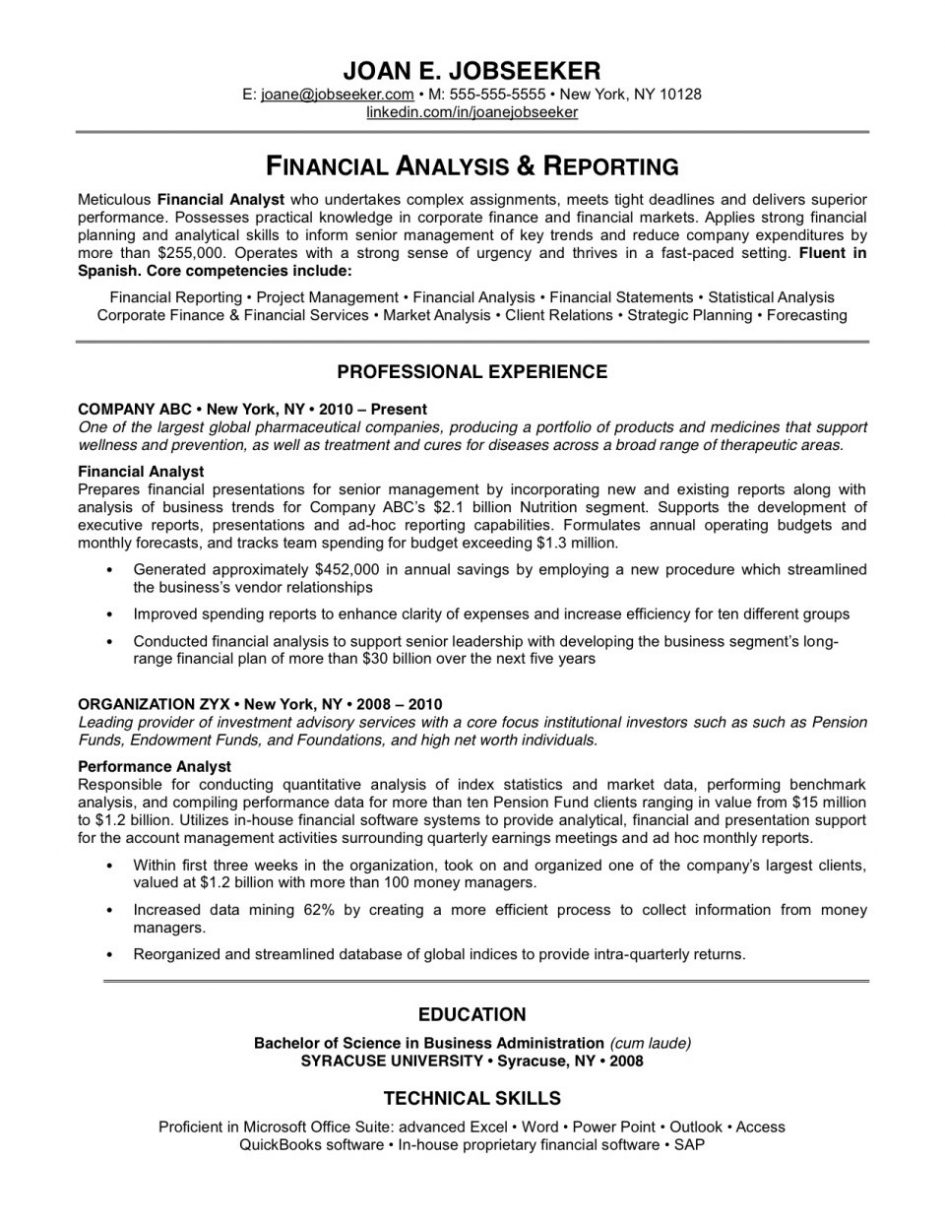 Finance Manager Resume Examples - Examples of Resumes