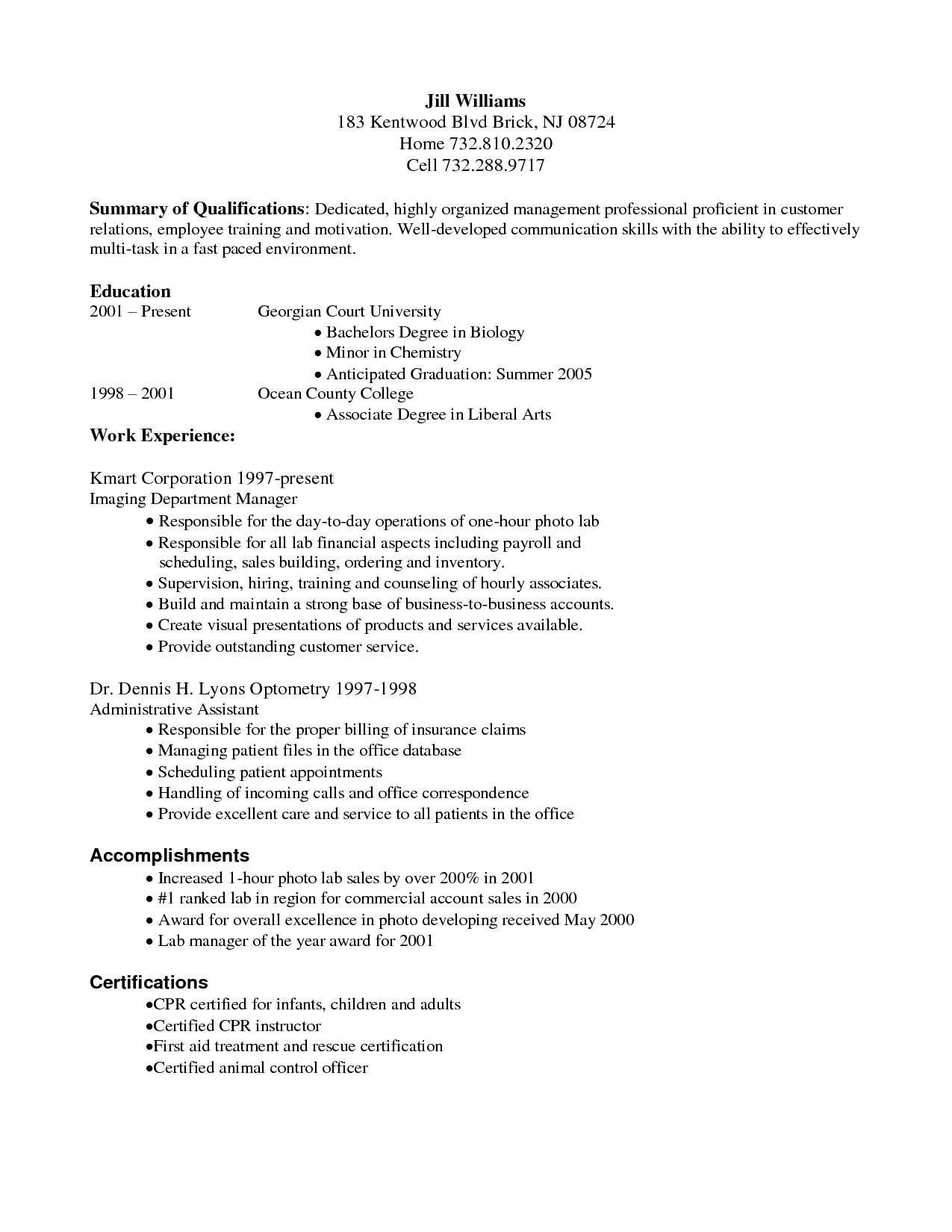 Samples Of Resume Summary Medical Billing And Coding Resume Example