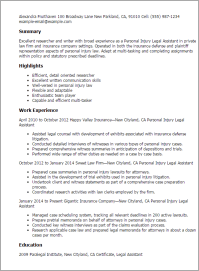 Personal Injury Attorney Resume Samples ...