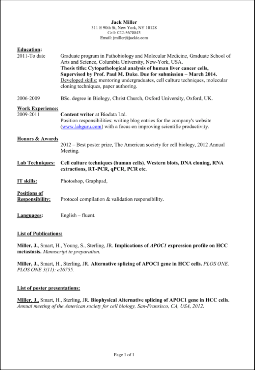 Sample Computer Science Intern Resume Sample Computer
