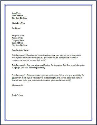 Free Resume Cover Letter Examples Cover Letter Example It Cover  Free Resume Cover Letters