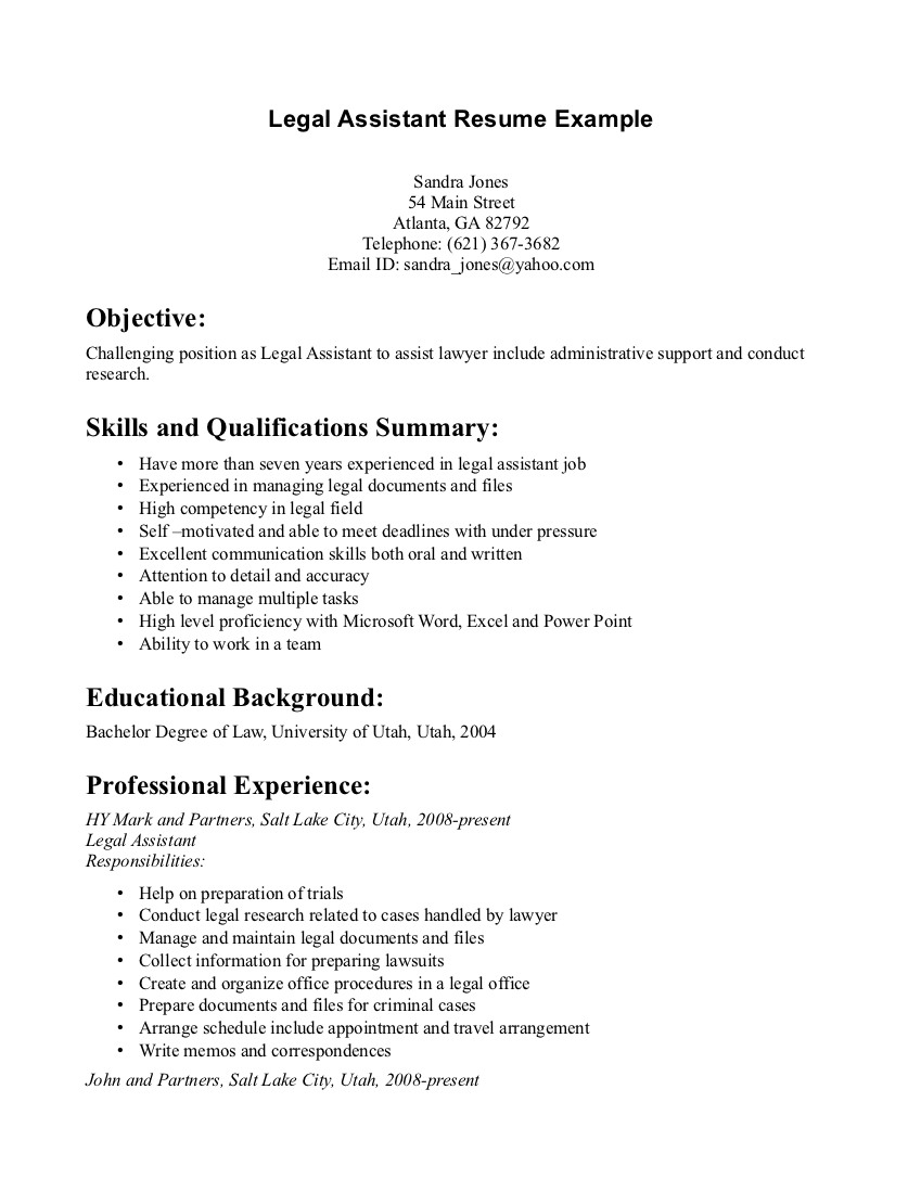 secretary assistant resume