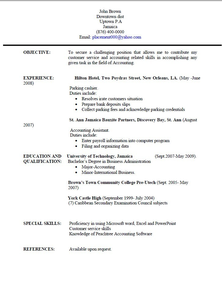 Resume Templates Jamaica Resume Writing University Of Technology