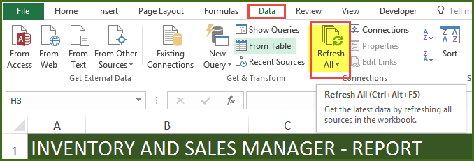 Sales And Inventory Management Excel Template