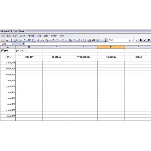 Time Management Spreadsheet Template Free