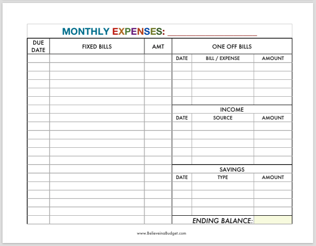 budget expenses worksheet - April.onthemarch.co