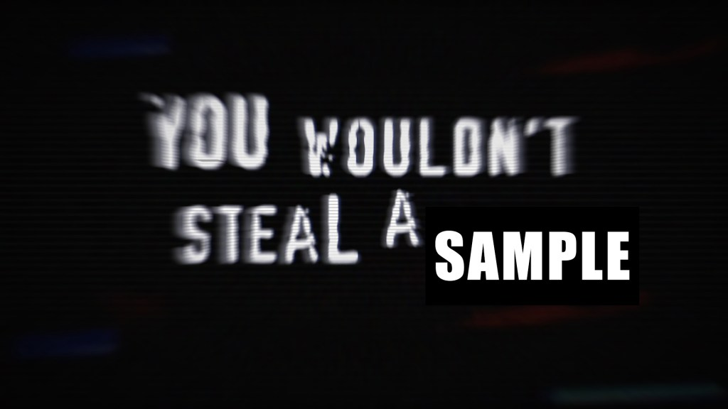 You wouldn't steal a sample
