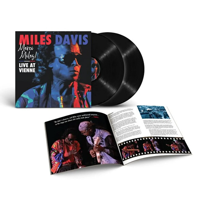 """A photo of Miles Davis's record """"Merci Miles Live at Vienne"""""""
