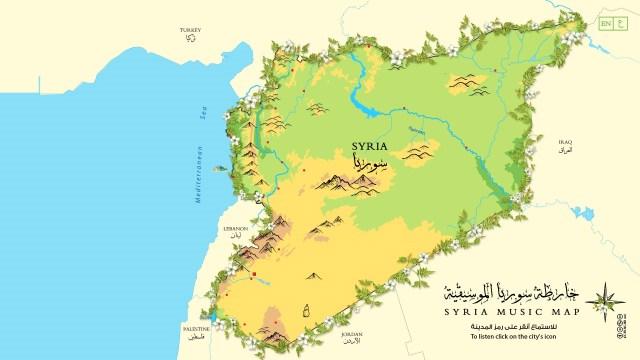 Syria music map