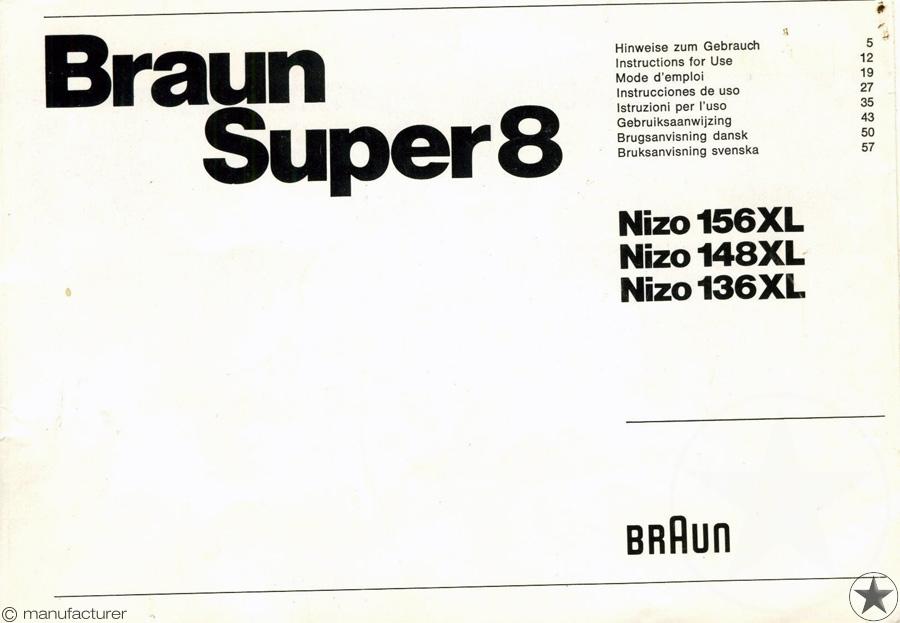 Braun Nizo 148 XL