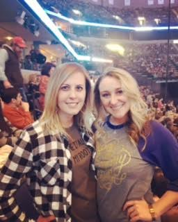 Getting pumped for the show to start! Check out our Garth shirts! #blameitallonmyroots