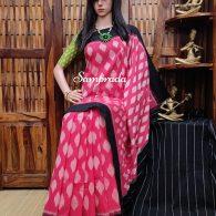 Bhagini - Ikkat Cotton Saree without Blouse
