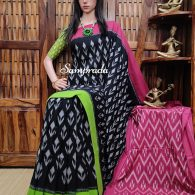 Bhakthi - Ikkat Cotton Saree without Blouse