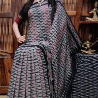 Bhamini - Ikkat Cotton Saree without Blouse