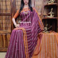 Bharathi - Ikkat Cotton Saree without Blouse