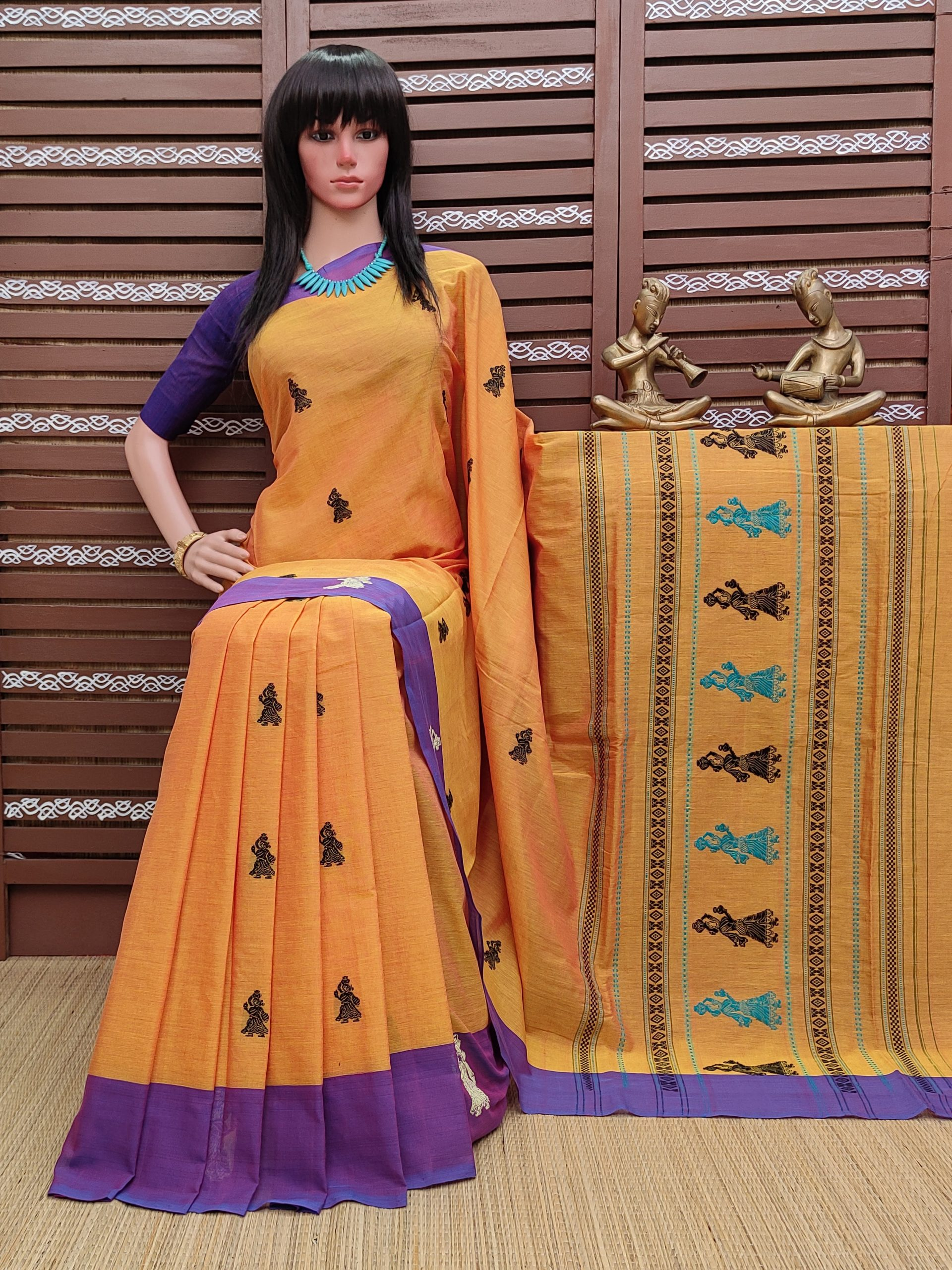 Buddhana - Gollabama Buta Cotton Saree