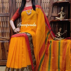 Namanarayani - Mercerized Pearl Cotton Saree