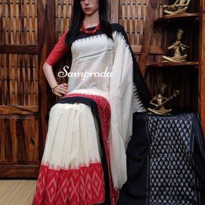 Paramjyothi - Ikkat Cotton Saree