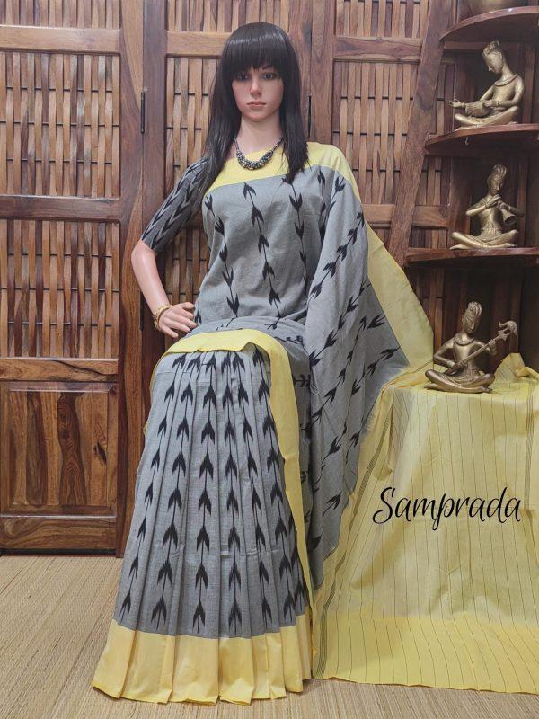 Parana - Ikkat Cotton Saree