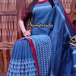 Poshita - Ikkat Cotton Saree