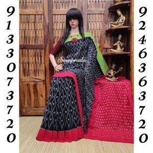 Prayaathi - Ikkat Cotton Saree