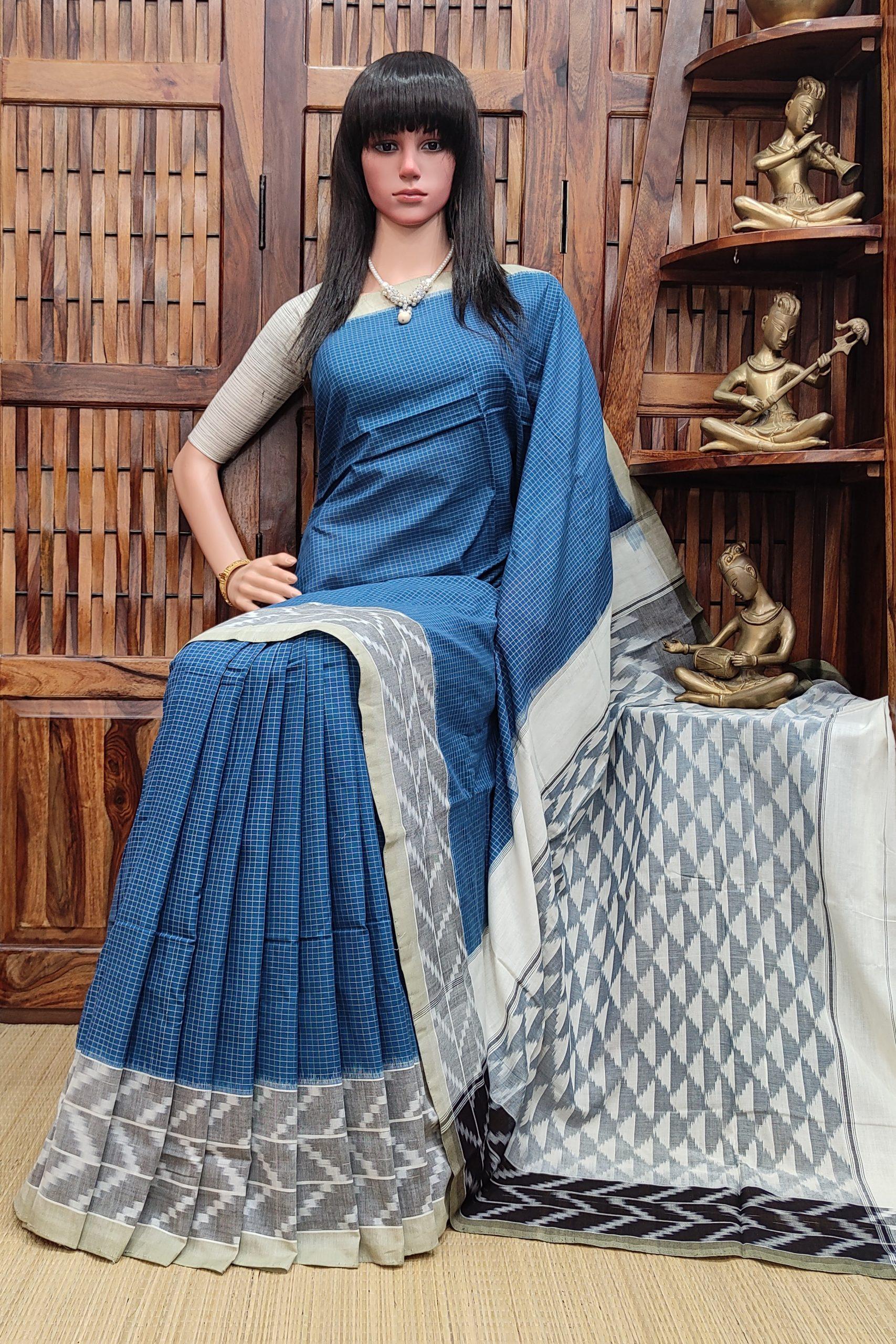 Prithi - Ikkat Cotton Saree