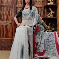 Vallabhi - West Bengal Painted Cotton Saree