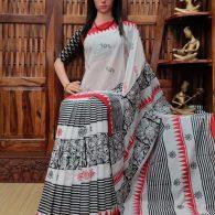 Vamdevi - West Bengal Painted Cotton Saree