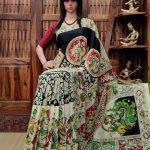 Vanajakshi - West Bengal Painted Cotton Saree