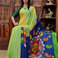 Vanchita - West Bengal Painted Cotton Saree