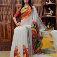 Vanini - West Bengal Painted Cotton Saree