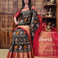 Athitya - Ikkat Silk Saree