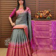 Sheela - Ikkat Silk Saree