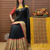 Smarathi - Ikkat Silk Saree