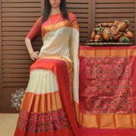 Smitha - Ikkat Silk Saree