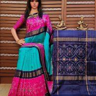 Smruthi - Ikkat Silk Saree