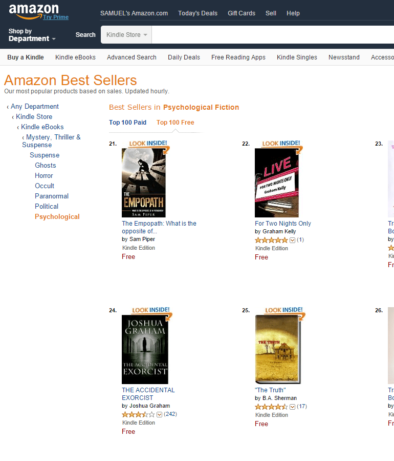 amazon bestseller list usa 21
