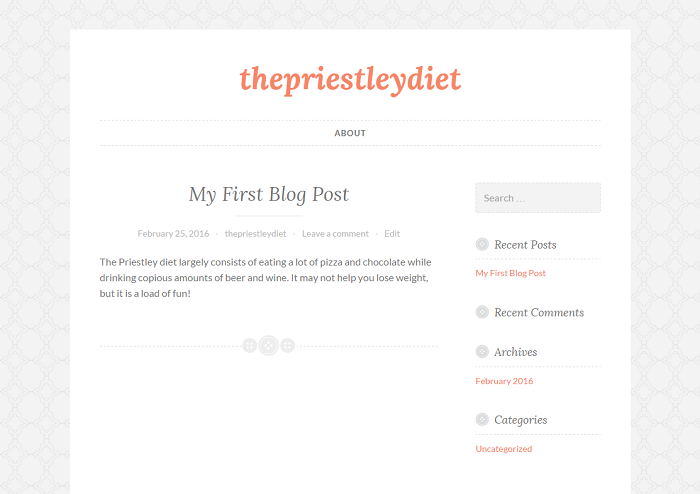 button wordpress theme bluehost start a blog