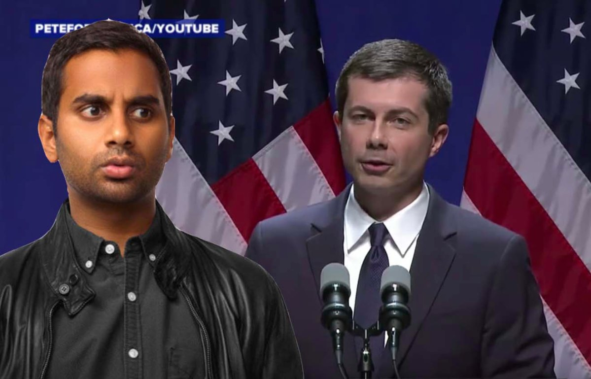 pete buttigieg, aziz ansari, master of none