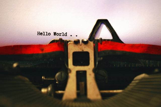 Hello World! (photo: Aldo van Zeeland)