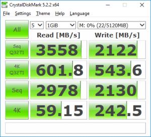 CrystalDiskMark Samsung 960 PRO Performance Benchmark