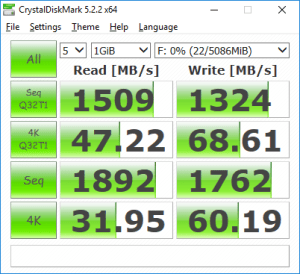 VMware Workstation VM NVMe disk CrystalDiskMark performance benchmark