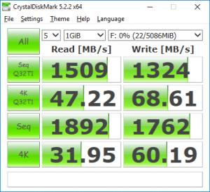 VMware Workstation VM NVMe disk CrystalDiskMark performance benchmark