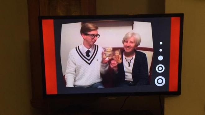 Sam French and his gingerbread men on the one show.