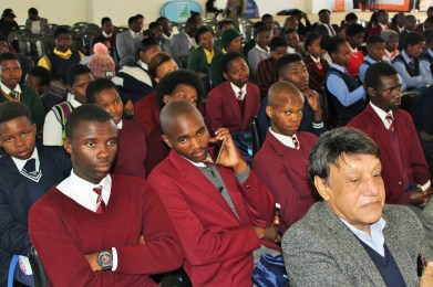 Scores of Mbizana region high school pupils that attended South Africa's celebration of the international Day of the Seafarer on Sunday
